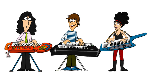 Illustration für Musiker Band Character Design
