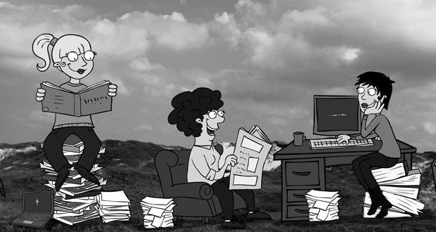 Illustration für die Bücherfrauen